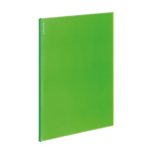 ポケットファイルα<ノビータα> A4 6P ライトグリーン [ラ-NF6LG]