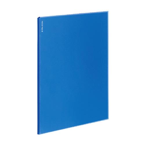 ポケットファイルα<ノビータα> A4 6P 青 [ラ-NF6B]