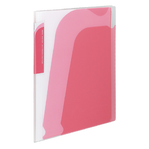 ポケットブック<ノビータ>チャック付 A4 ピンク [ラ-N205P]