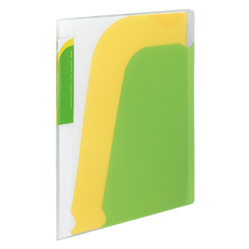 ポケットブック<ノビータ>チャック付 A4 ライトグリーン [ラ-N205LG]