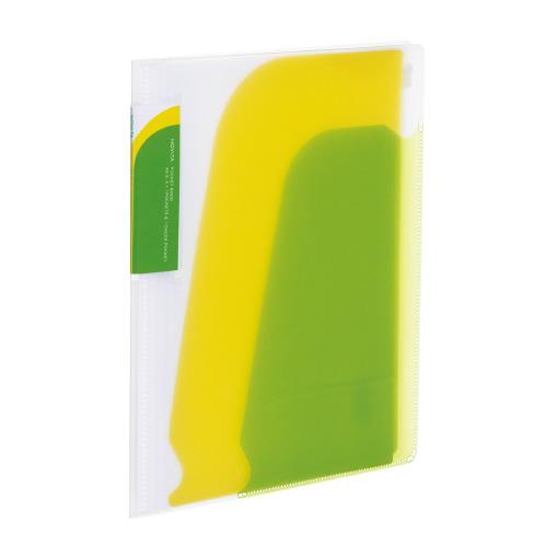 ポケットブック<ノビ-タ>チャック付 A5 ライトグリーン [ラ-N202LG]