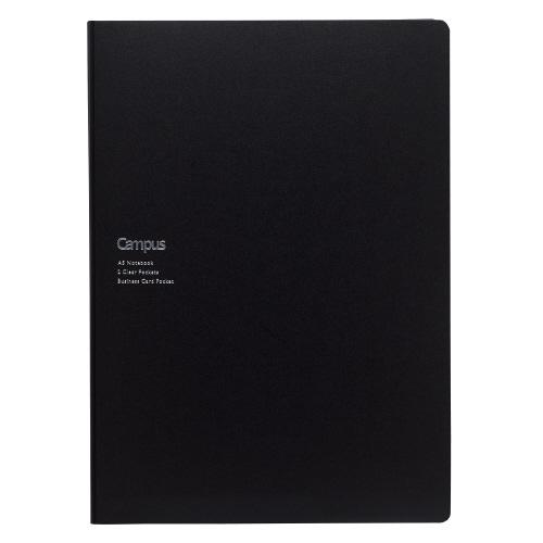 キャンパス書類収容カバーノート A5用 ブラック [ノ-615B-D]