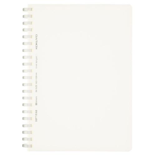ソフトリングノート(方眼ドット罫・カットオフ) B6 透明 [ス-SV548WT-T]