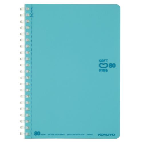 ソフトリングノート(ドット入リ罫・カットオフ) B6 ライトブルー [ス-SV348BT-LB]