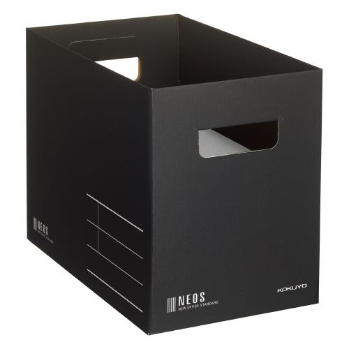 収納ボックス<NEOS>(Mサイズ)黒 [A4-NEMB-D]