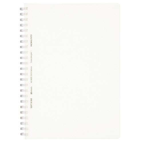 ソフトリングノート(方眼ドット罫・カットオフ) A5 透明 [ス-SV538WT-T]