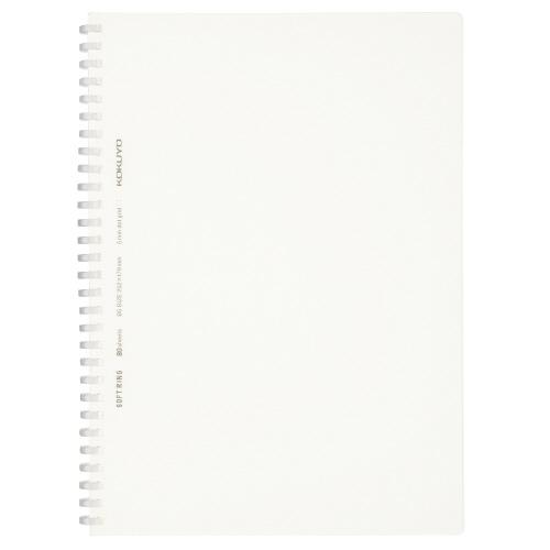 ソフトリングノート(方眼ドット罫・カットオフ) セミB5 透明 [ス-SV508WT-T]