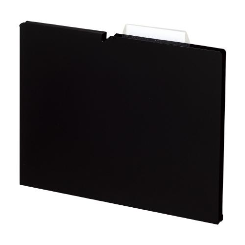 個別フォルダ<NEOS>A4(PP製3辺トジ) ブラック [A4P-NEF15D]