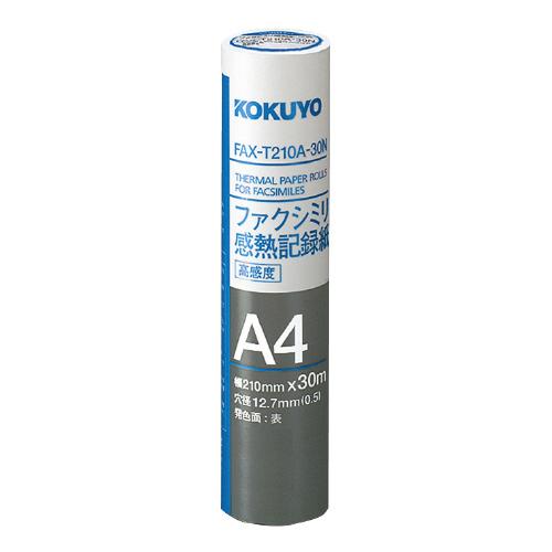 ファクシミリ感熱記録紙 210mm×30m 芯径0.5インチ [FAX-T210A-30N]