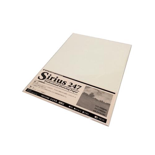 シリウス水彩画紙(超厚口・247g)F4パック[12枚入]