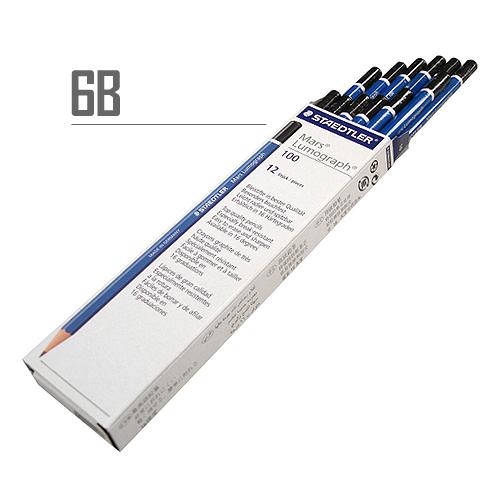 ステッドラー マルスルモグラフ製図用鉛筆 6B【ダース】