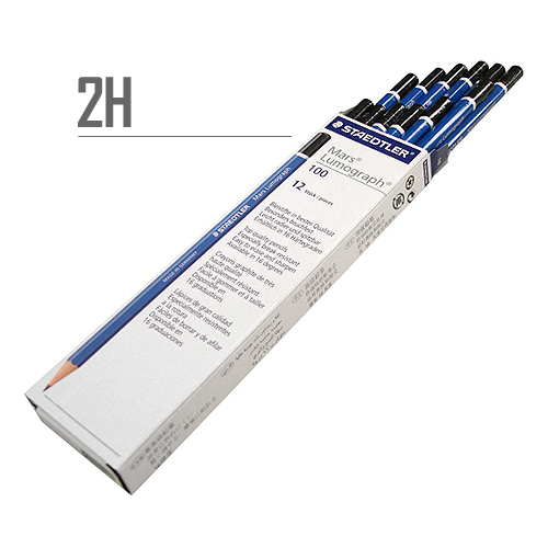 ステッドラー マルスルモグラフ製図用鉛筆 2H【ダース】