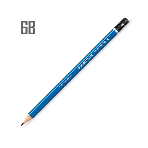ステッドラー マルスルモグラフ製図用鉛筆 6B
