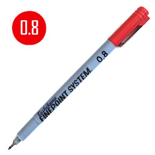 タチカワ ファインポイントシステム[油性]赤 0.8mm
