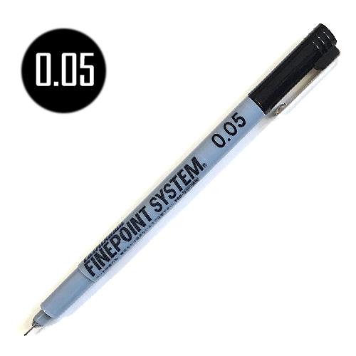 タチカワ ファインポイントシステム[油性]黒 0.05mm