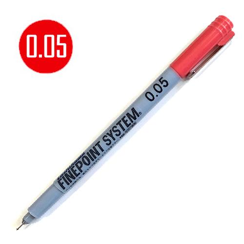 タチカワ ファインポイントシステム[油性]赤 0.05mm