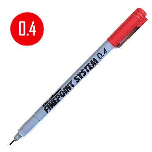 タチカワ ファインポイントシステム[油性]赤 0.4mm