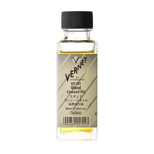 ホルベイン ヴェルネ画用液 スタンドリンシードオイル90ml(VO701)
