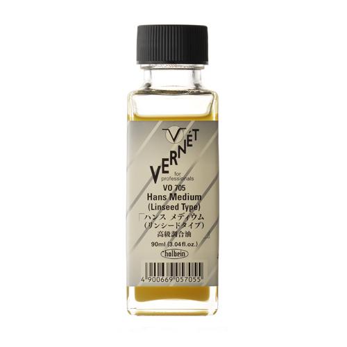 ホルベイン ヴェルネ画用液 ハンスメディウム[リンシードタイプ]90ml(VO705)