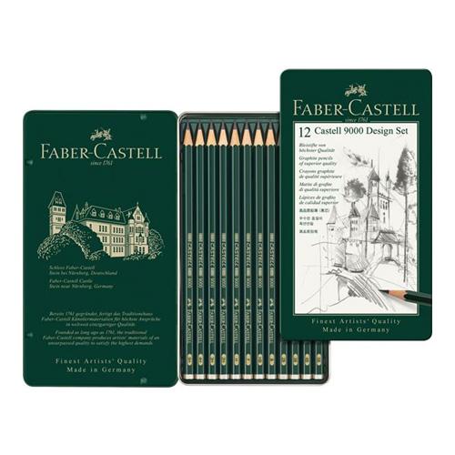 ファーバーカステル カステル9000鉛筆 デザインセット(12硬度