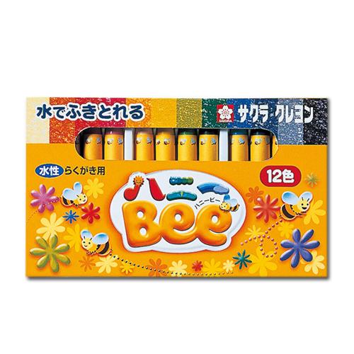 サクラ ハニーBee(水性クレヨン)12色セット