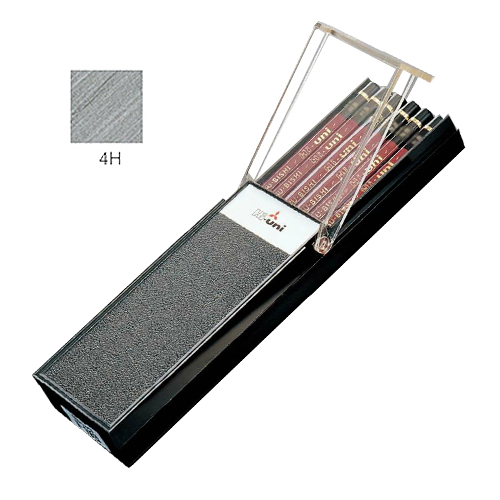 三菱 ハイユニ鉛筆 4H【ダース】