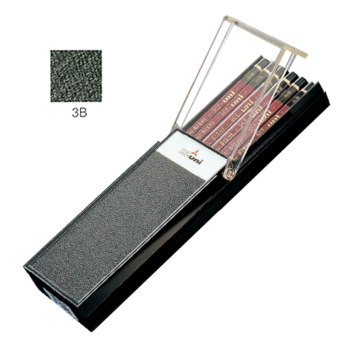 三菱 ハイユニ鉛筆 3B【ダース】