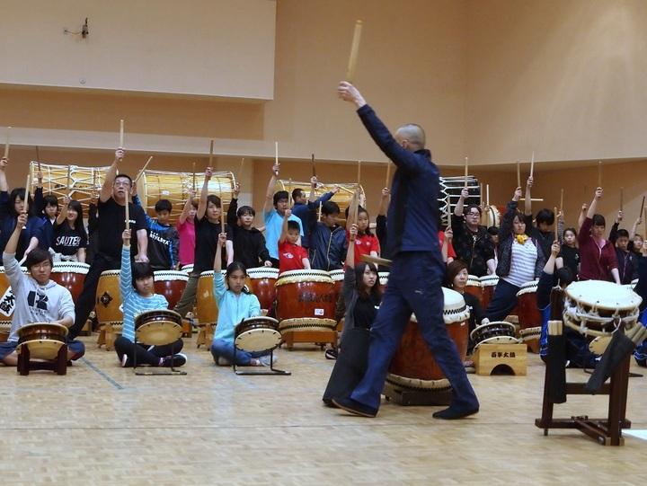 音楽科授業むけ特別講習 和太鼓合奏曲『日本民謡より』松村公彦 特別講習会 子どものやる気を引きだすセミナーIN大阪