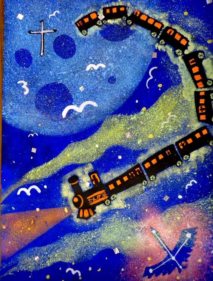 どの子も描ける酒井式描画法~宮沢賢治「銀河鉄道の夜」~