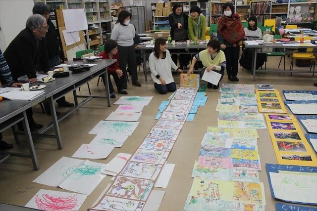 みんなで広げようお絵かきの輪 美術教育を進める会東京サークル12月例会