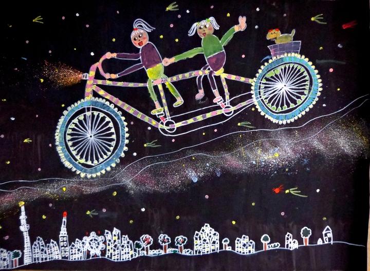 どの子もできる酒井式絵画法「自転車に乗って」