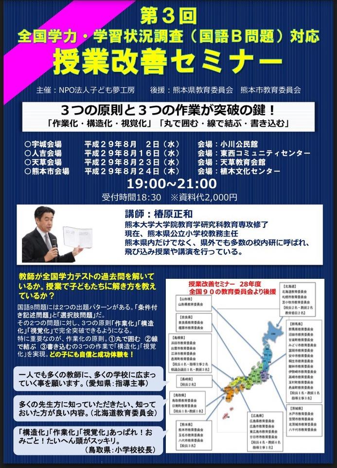 第3回全国学力・学習状況調査(国語B問題)対応授業改善セミナー熊本市会場