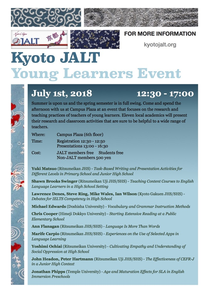 Kyoto JALT Young Learners Event