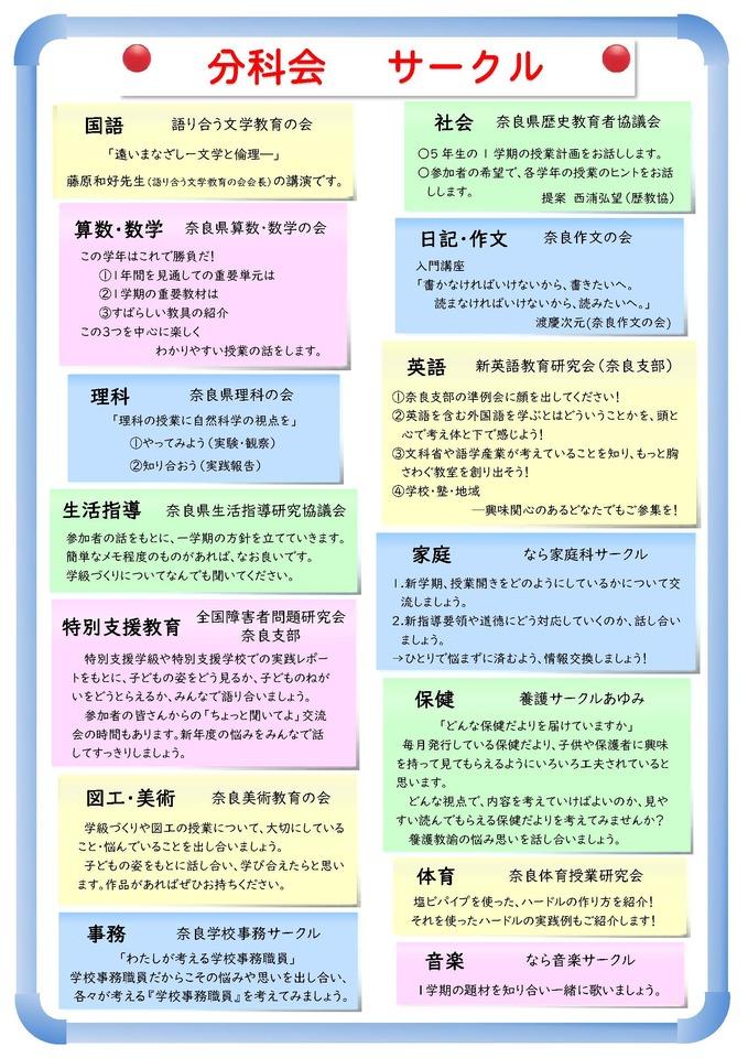 奈良県教育サークル「春のいきいき教育大集会」