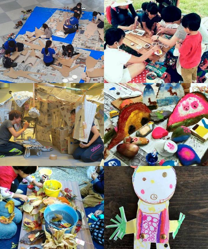 100色絵の具でカラフルお絵かき ~発見!いろいろな色のあそび方~ 子どものやる気をひきだすセミナー実技講習会