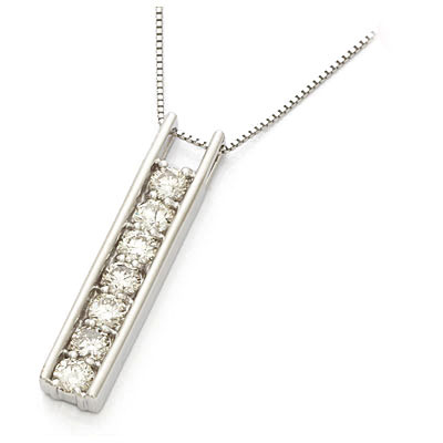 K18WG ダイヤモンドネックレス D1.00 18金ホワイトゴールド