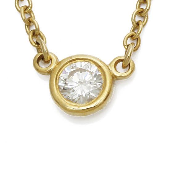 K18  ダイヤモンド ネックレス バイザヤード