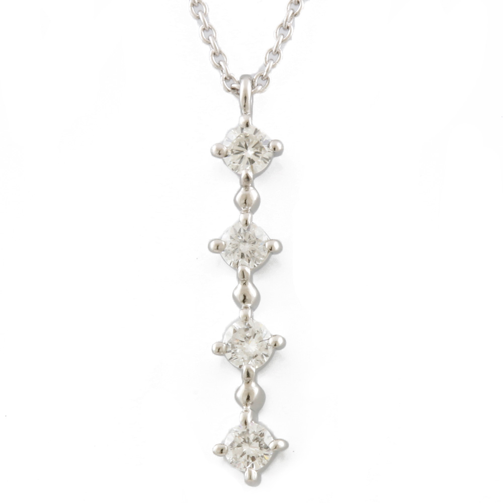PT900/850 ダイヤモンド プチネックレス