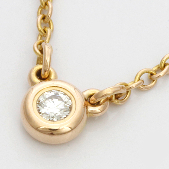 K18PG ダイヤモンド バイザヤード ネックレス