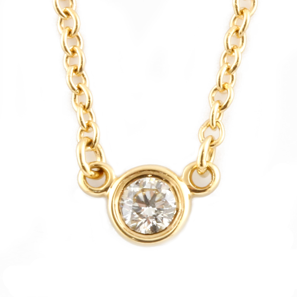 K18 ダイヤモンド バイザヤード ネックレス