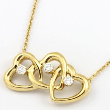 K18 ダイヤ ハートペンダント ネックレス