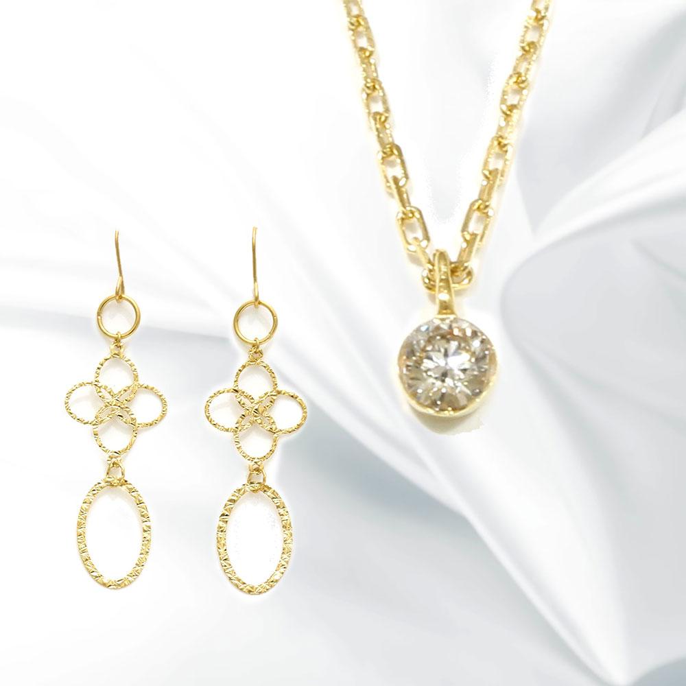 【Set Jewelry】agetaプチネックレス & ピアス