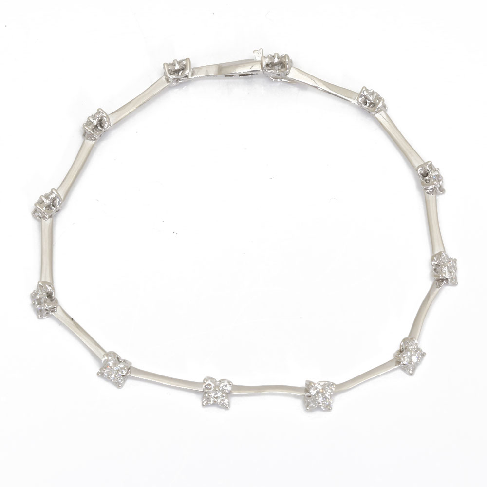 K18WG ダイヤモンド ブレスレット