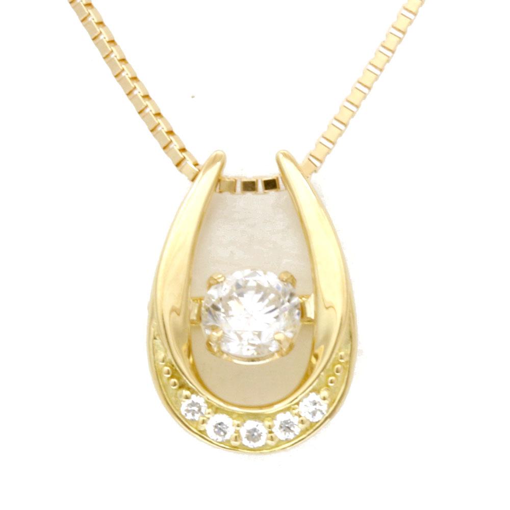 K18 ダンシング ダイヤモンドネックレス