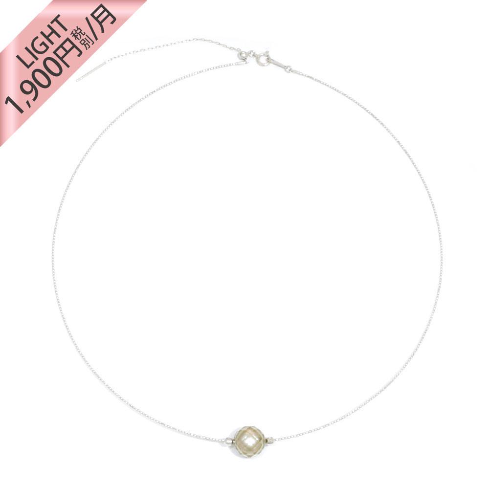 【ライト】K18WG 華真珠 ネックレス