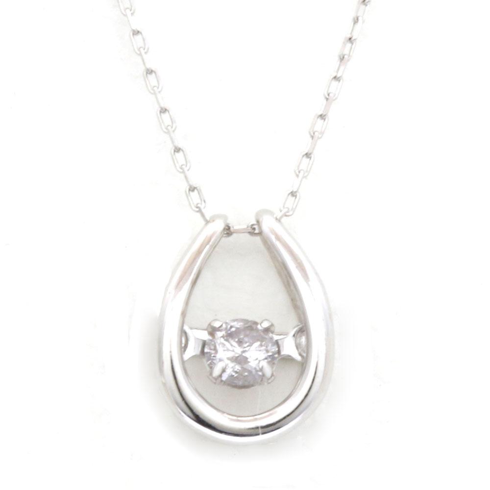 K18WG ダンシング ダイヤモンド ネックレス