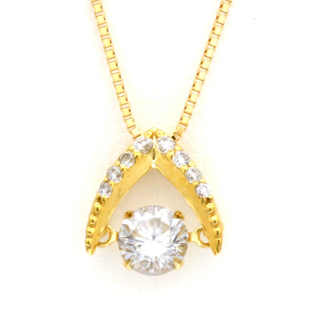 K18 ダンシング ダイヤモンド ネックレス