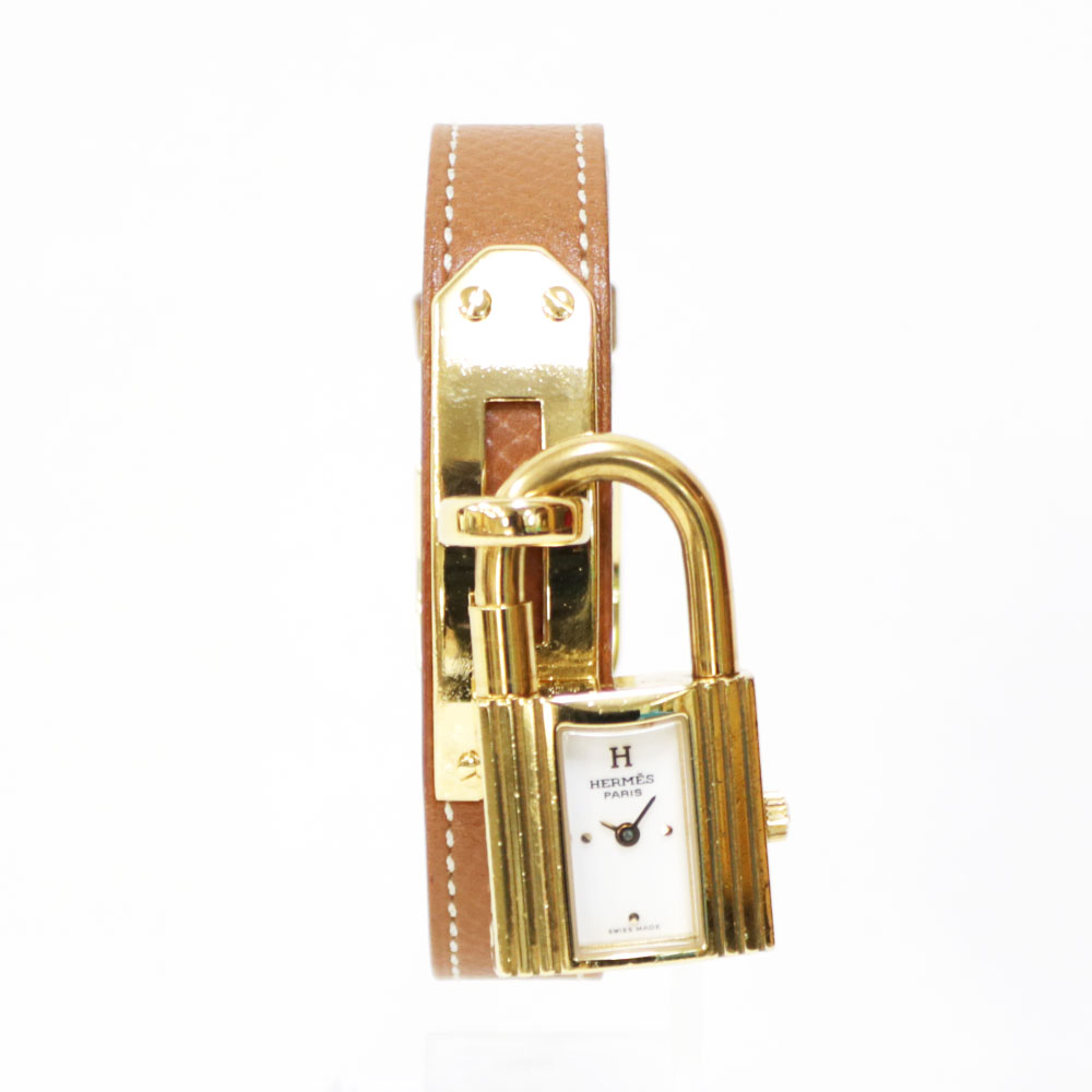 時計 HERMES ケリー レザー【腕回り約14~17cm調節可能】