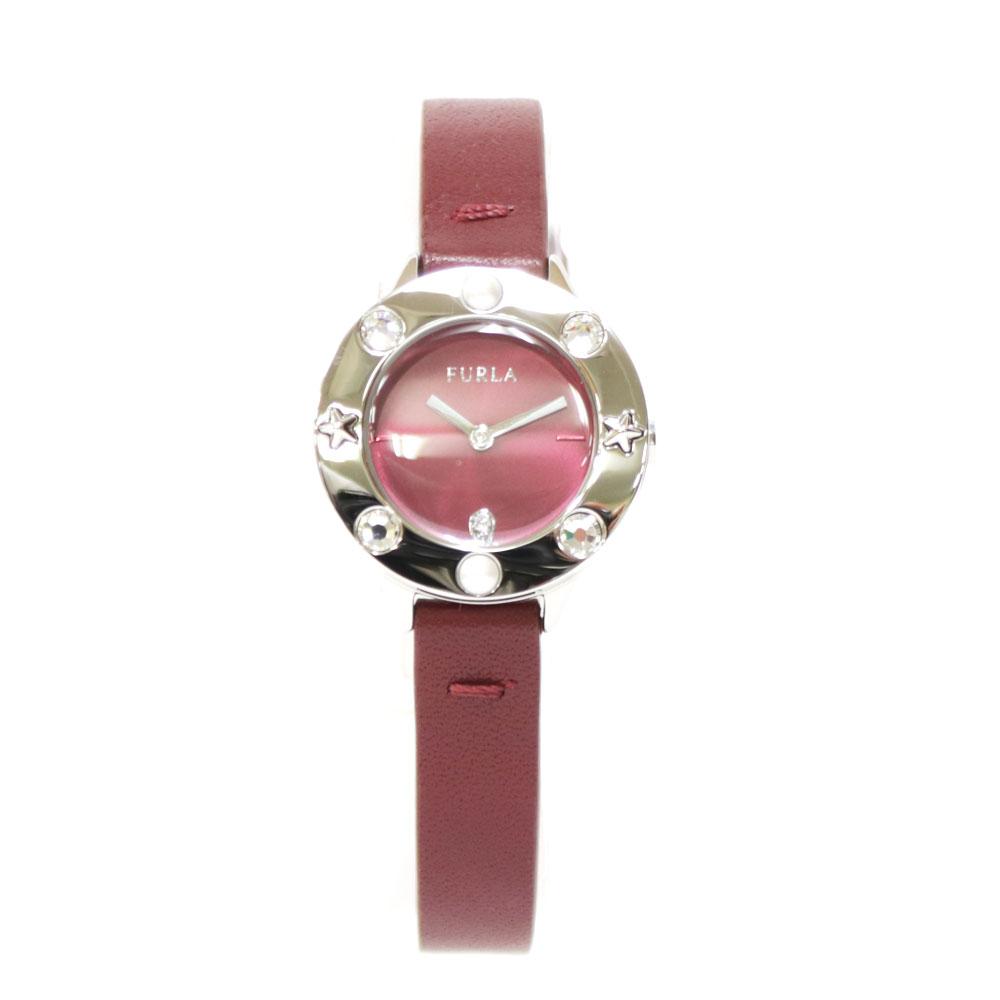時計 FURLA ステンレス レザー【腕回り約15.0-19.0cm チェンジベゼル付き】