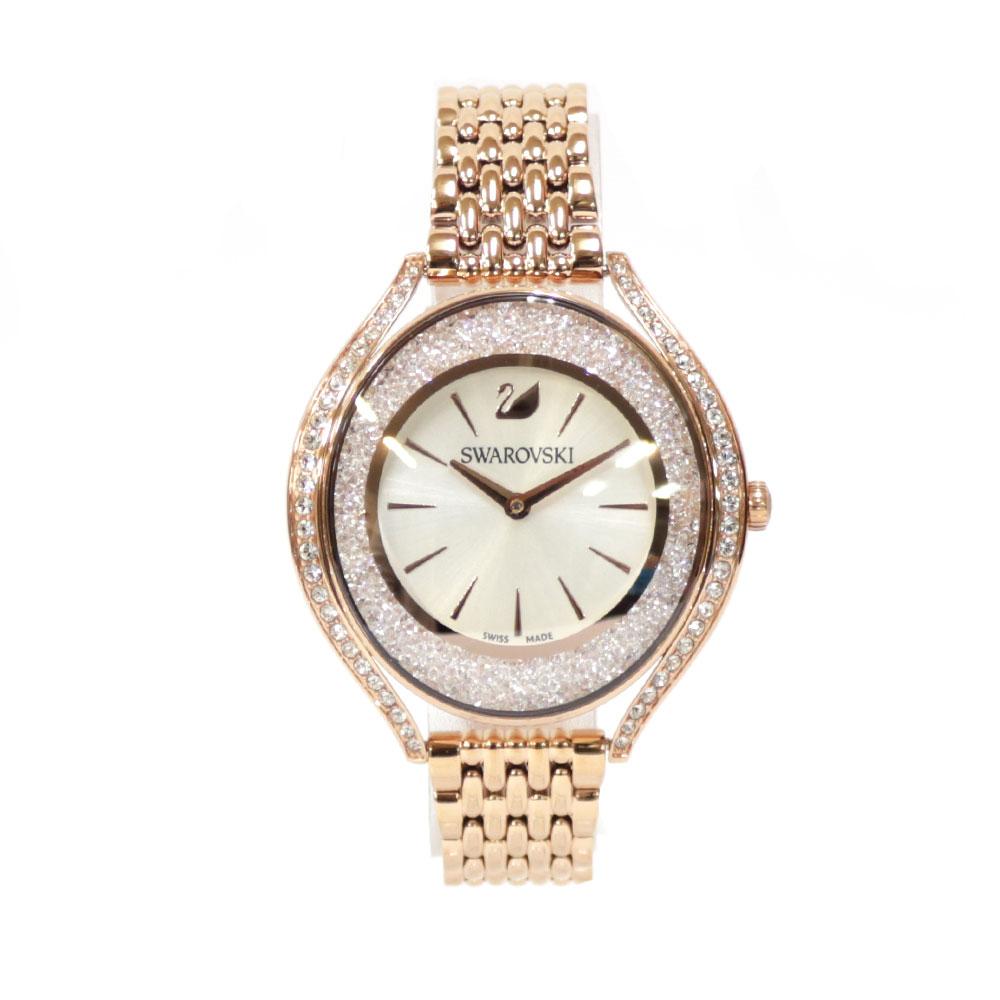 時計 SWAROVSKI Aura ステンレス【腕回り約16.5cm※サイズ調整承ります】